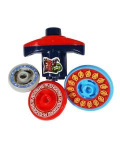 Pião com 3 Discos DY-050 Vingadores Etilux - Vermelho