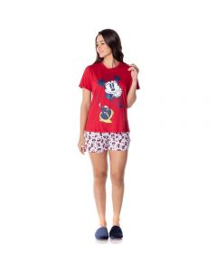 Pijama Curto Estampa Minnie Disney