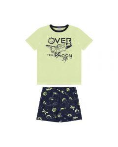 Pijama de 1 a 3 Anos Curto Brilha no Escuro Alakazoo Amarelo