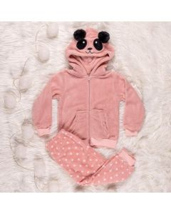 Pijama de 1 a 3 Anos Panda Yoyo Kids Rosa
