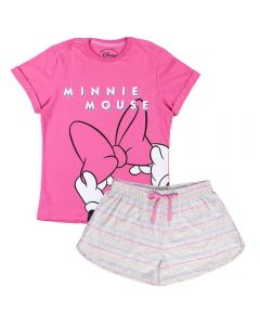 Pijama de 12 a 16 Anos Curto Minnie Mouse Disney Chiclete