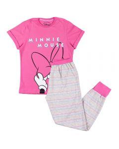Pijama de 12 a 16 Anos Meia Estação Minnie Disney Chiclete