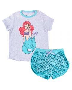 Pijama de 4 a 10 Anos Curto Ariel Disney Mescla Claro