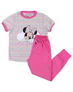 Pijama de 4 a 10 Anos Meia Estação Minnie Disney Mescla Banana