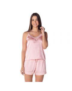 Pijama em Cetim Camila Moretti Rosa