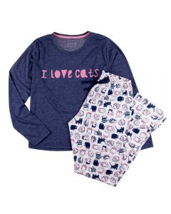 Pijama Feminino Adulto Love Cats Holla