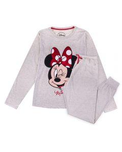 Pijama Feminino Adulto Minnie Disney Mescla