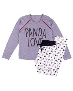 Pijama Feminino Adulto Panda Love Holla