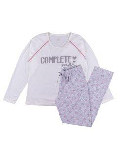 Pijama Feminino Adulto Raglan Complete Me List