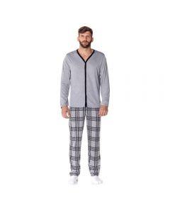 Pijama Longo Aberto Risk Mescla