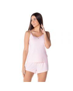 Pijama Poliamida Liso Camila Moretti Rosa