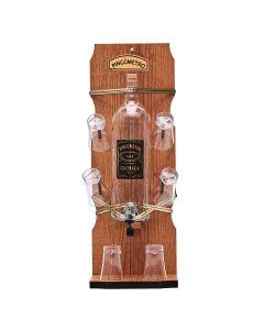 Pingômetro Garrafa com 6 Copos Forgerine - Madeira
