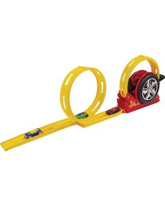 Pista de Carrinho Mega Speed Duplo BS Toys - Amarelo