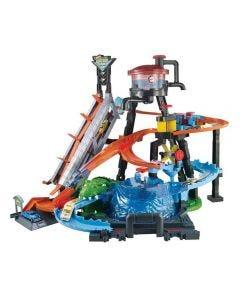 Pista Hot Wheels Ataque de Jacaré Mattel - FTB67 - Colorido