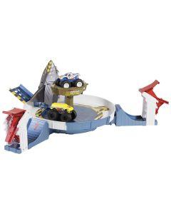 Pista Hot Wheels Batalha do Tubarão Mecha FYK14 Mattel - Colorido