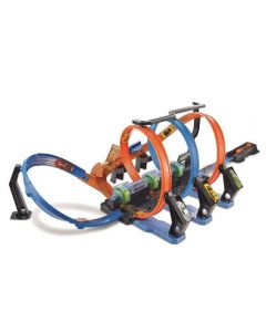 Pista Hot Wheels Corkscrew Mattel - FTB65 - Azul