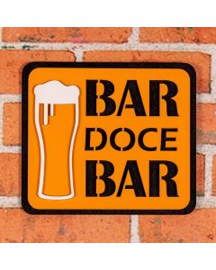 Placa Decorativa Bar Doce Bar Forgerini - 201