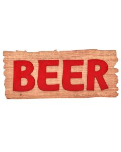 Placa Decorativa Beer Forgerini - Vermelho