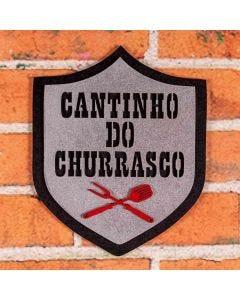 Placa Decorativa Brasão do Churrasco Forgerini - 202
