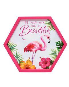 Placa Decorativa em MDF Finecasa - Flamingo