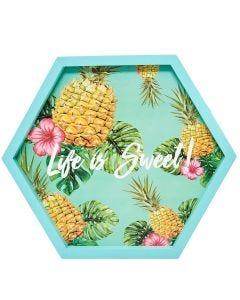 Placa Decorativa em MDF Finecasa - Abacaxi