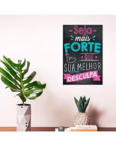 Placa Decorativa Havan - Melhor Desculpa