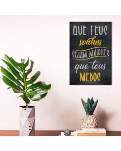 Placa Decorativa Havan - Teus Sonhos