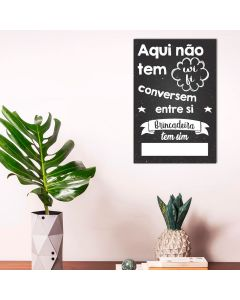 Placa Decorativa Havan - Wifi