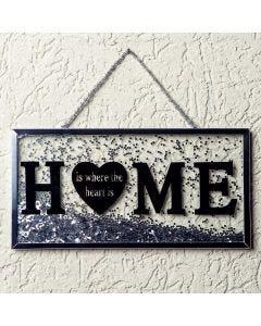Placa Decorativa Home Finecasa - Prata