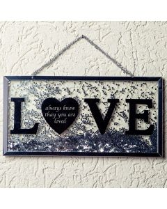 Placa Decorativa Love Finecasa - Prata