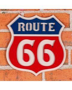 Placa Decorativa Route Forgerini - Vermelho