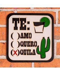 Placa Decorativa Tequila Forgerini - Branco