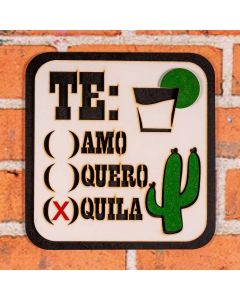Placa Decorativa Tequila Forgerini - Branco