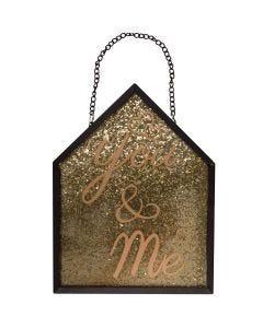 Placa Decorativa You And Me Finecasa - Dourado