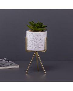 Planta Artificial com Vaso Amanda Yaris - Branco