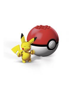 Pokebola com Pokémon Mega Construx Mattel - GFC85 - Pikachu