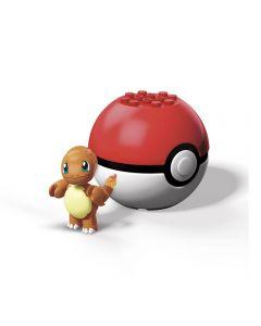 Pokebola com Pokémon Mega Construx Mattel - GFC85 - Charmander
