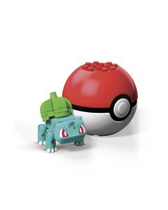 Pokebola com Pokémon Mega Construx Mattel - GFC85 - Bulbasaur