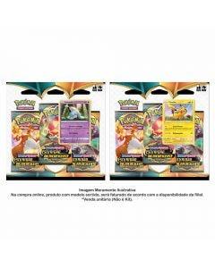 Pokémon Triple Pack Pikachu Ee3 Escuridão Incandescente Copag - 89089