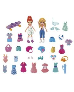 Polly Pocket  Kit Moda Esportiva Mattel - GGJ48 - Roxo