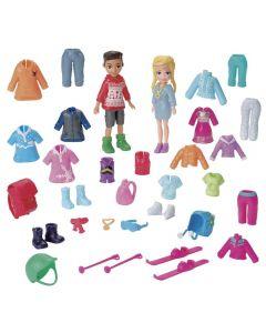 Polly Pocket  Kit Moda Esportiva Mattel - GGJ48 - Azul