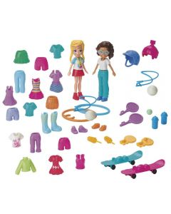 Polly Pocket  Kit Moda Esportiva Mattel - GGJ48 - Vermelho