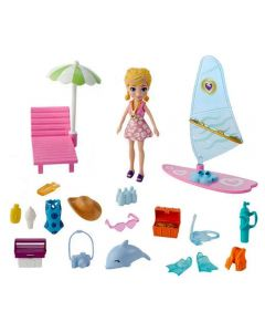 Polly Pocket Aventura na Praia Mattel - GFT95 - Rosa