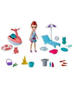 Polly Pocket Aventura na Praia Mattel - GFT95 - Azul