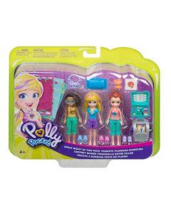 Polly Pocket com 3 Mini Bonecas e Acessórios Club House Mattel - GMF82