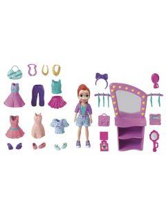 Polly Pocket Kit Boneca e Acessórios Mattel - GBF85 - Rosa