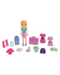 Polly Pocket Kit Fashion de Viagem Mattel - GFT92 - Loira
