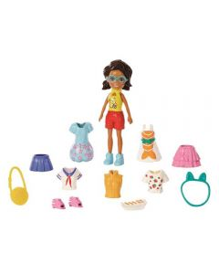 Polly Pocket Kit Fashion de Viagem Mattel - GFT92 - Morena