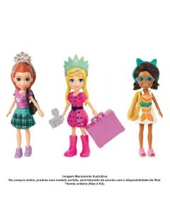 Polly Pocket Kit Fashion De Viagem Mattel - GFT92