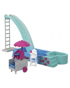 Polly Pocket Piscina Surpresa GFK51 Mattel - Azul